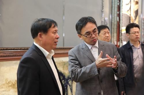 山东省统计局副局长来东方地毯考察